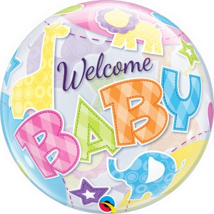 "Welcome Baby - 22"" (Bubble)"