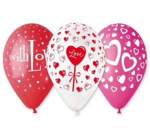 "I Love You  (12"" - 30 cm) 5 szt."